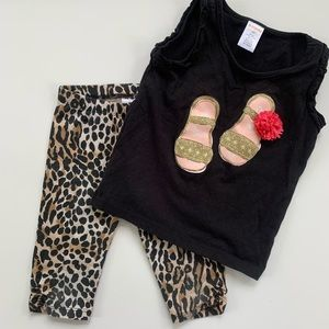 Gymboree 2-Piece Animal Print Capris and Tank Top